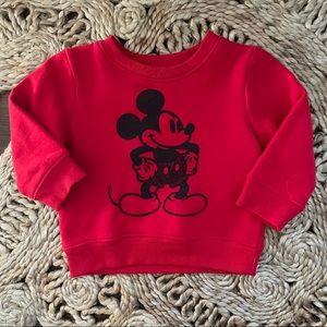 Disney red softest fleece Mickey sweatshirt